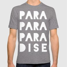 PARADISE Tri-Grey SMALL Mens Fitted Tee