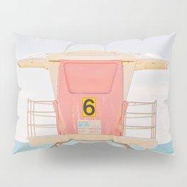 Lifeguard Tower. No. 6 Pillow Sham