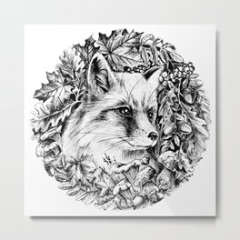 "Autumn fox. From the series ""Seasons"" Metal Print"