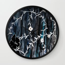 Grey Vines Wall Clock