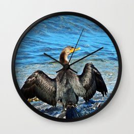 Cormorant Watches the Watcher Wall Clock