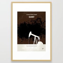 No102 My GIANT minimal movie poster Framed Art Print