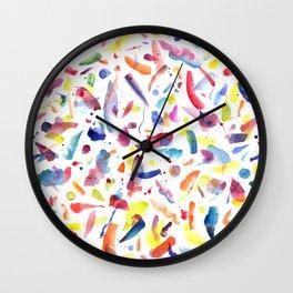 Abstract Painterly Brushstrokes Wall Clock