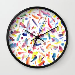 Abstract Painterly Brushstrokes Wall Clock