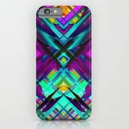 Colorful digital art splashing G472 iPhone Case