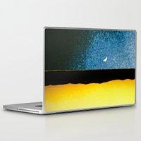 moon phase Laptop & iPad Skins featuring New Moon - Phase I by Marina Kanavaki