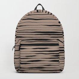 Hand Painted Lines / Dark Beige Backpack