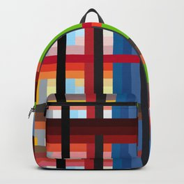 geometric retro colorful Naiad Backpack