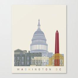 Washington DC skyline poster Canvas Print