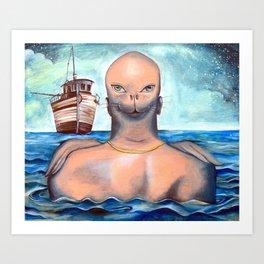 Sea lion | Awaiting Escape Art Print