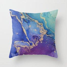 Golden Ocean - Part 3 Throw Pillow
