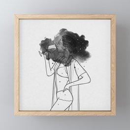 Breathing your soul. Framed Mini Art Print