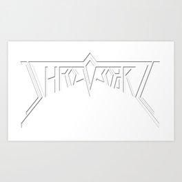 Shreveport- White Art Print