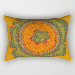 Growing -Taxus - embroidery based on plant cell under the microscope Rectangular Pillow