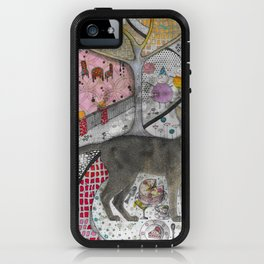 """Cat birthday""  Illustrated print iPhone Case"