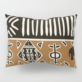 African mud cloth with elephants Pillow Sham