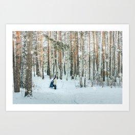 Snow white story Art Print