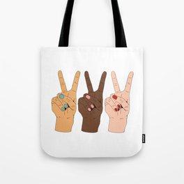 Peace Hands 3 Tote Bag