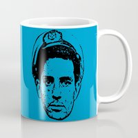 kerouac Mugs featuring Outlaws of Literature (Jack Kerouac) by Silvio Ledbetter