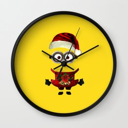 marry christmas minion i phone duvet cover tote bag Wall Clock