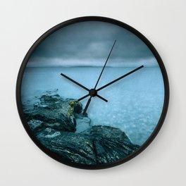 Steel Blue Seascape Wall Clock