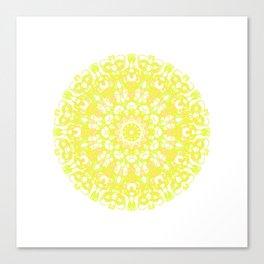 Mandala 12 / 1 eden spirit yellow white Canvas Print