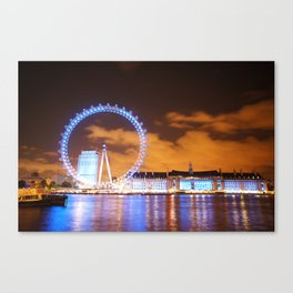 London Midnight Eye Canvas Print