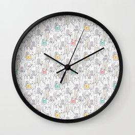 Doodle Cats Wall Clock