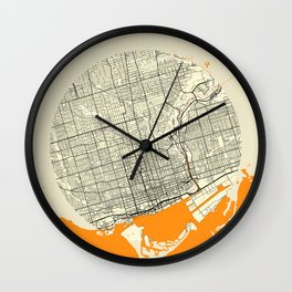 Toronto Map Moon Wall Clock