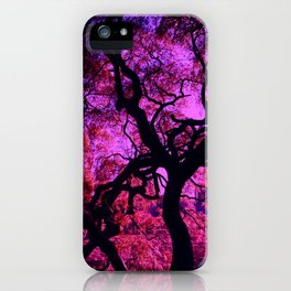Under the Tree in Pink and Purple iPhone Case
