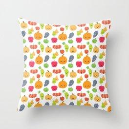 KAWAII FRUIT Throw Pillow