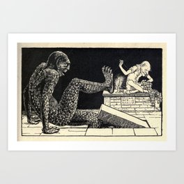 A monster appeared! Art Print