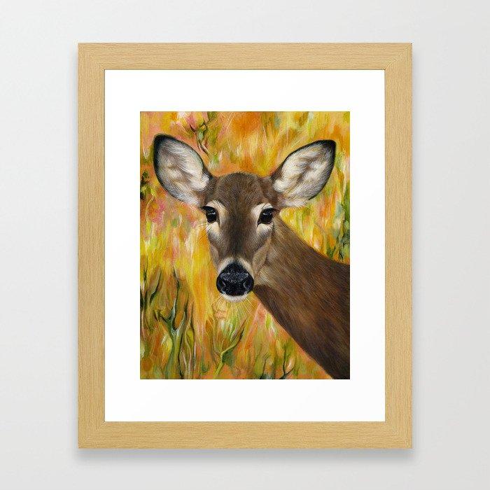 Deer Spirit Framed Art Print