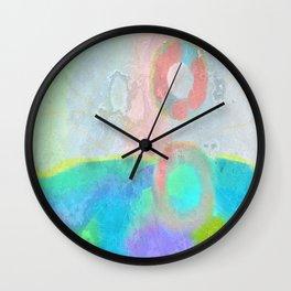 Original Abstract Digital Painting Wall Clock
