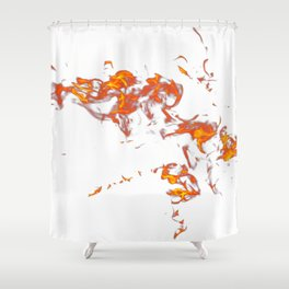 Can Walk on Fire, white background Shower Curtain