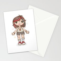 Funky girl Stationery Cards