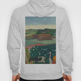 Haystacks in Brittany Oil Painting by Paul Gauguin Hoody