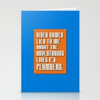 video games Stationery Cards featuring Video Games Lied To Me by Made With Awesome