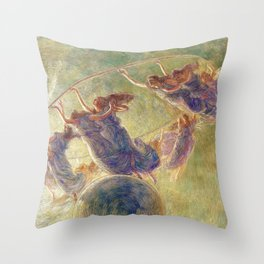 The Dance of the Hours by Gaetano Previati Throw Pillow