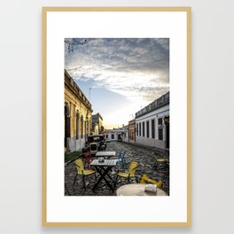 A time and a place Framed Art Print