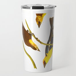 Nuttall's Starling, Yellow-headed Troopial, Bullock's Oriole Travel Mug