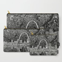 st louis city skyline map Carry-All Pouch