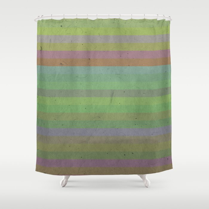 Earthy Bold Stripes Shower Curtain By Uteb