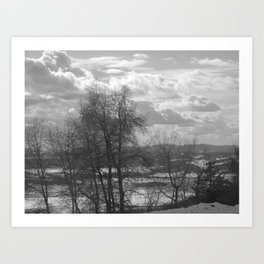 The Valley on the Other Side of the Trees Art Print