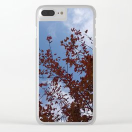 Some of the Leaves, More of the Sky Clear iPhone Case