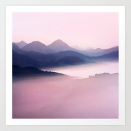 Foggy Mountains II Art Print