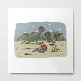 Dino houses / Maisons préhistoriques Metal Print