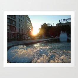 Beaming in Belgrade. Art Print