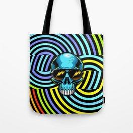 Funky Hypno Skull Tote Bag