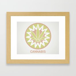 The Cannabis Case. Framed Art Print